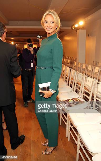 Director of Apollonia Associates, Corinna zu Sayn-Wittgenstein attends the Zac Posen fashion show during Mercedes-Benz Fashion Week Spring 2015 on...