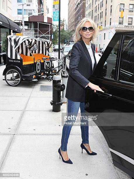 Director of Apollonia Associates Corinna zu SaynWittgenstein departs The Mark Hotel for a meeting with the Clinton Global Initiative on September 9...