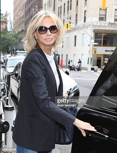Director of Apollonia Associates, Corinna zu Sayn-Wittgenstein departs The Mark Hotel for a meeting with the Clinton Global Initiative on September...