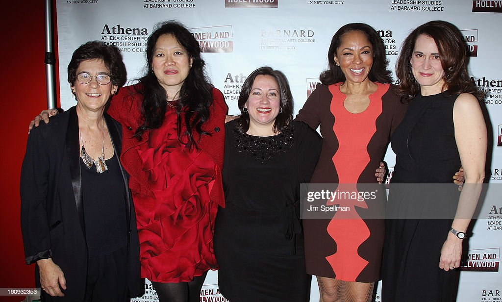 Director of Barnard College's Athena Center for Leadership Studies Kathryn Kolbert, Executive Directorof Film Society of Lincoln Center Rose Kuo, Co-Founder of Women & Hollywood attend Melissa Silverstein, -Television Producer Debra Martin Chase and President of Barnard College Debora Spar attends the 2013 Athena Film Festival Opening Night Reception at The Diana Center At Barnard College on February 7, 2013 in New York City.
