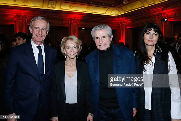 Director of BNP Paribas Michel Bouillot President of CNC Frederique Bredin Director Claude Lelouch and his companion Valerie Perrin attend the 'Diner...
