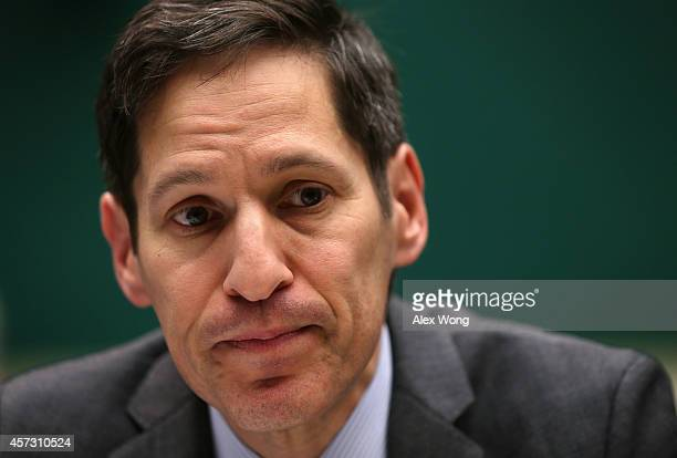 Director of Centers for Disease Control and Prevention Dr Thomas Frieden testifies during a hearing on Ebola before the Oversight and Investigations...