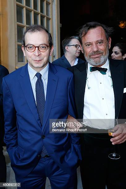 Director of Centre Pompidou-Metz Laurent Le Bon and lanscape Louis Benech attend the private tour and dinner of the Lee Ufan's Exhibition at Chateau...