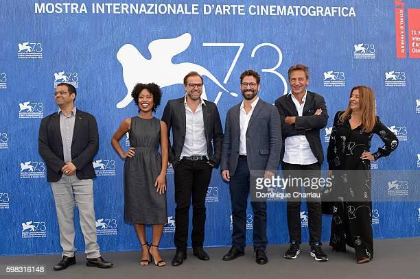Director of cinematography Ricardo Adolfo, actress Mariana Nunes, director Marco Martins, actor Nuno Lopes, producers Francois d'Artemare and Maria...