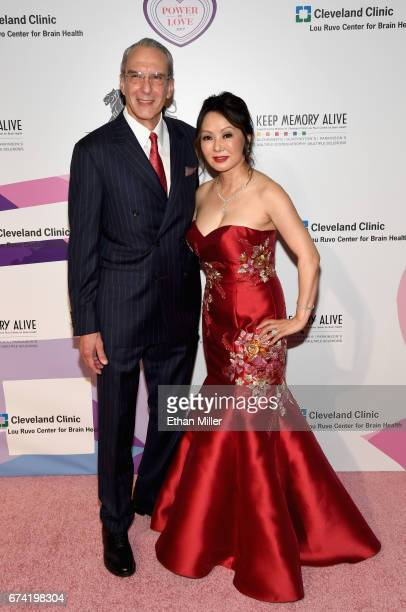 Director of Cleveland Clinic Lou Ruvo Center for Brain Health Dr Jeffrey Cummings and Dr Kate Zhong attend the 21st annual Keep Memory Alive 'Power...