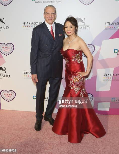 Director of Cleveland Clinic Lou Ruvo Center for Brain Health, Dr. Jeffrey Cummings and his wife, Dr. Kate Zhong, attend Keep Memory Alive's 21st...