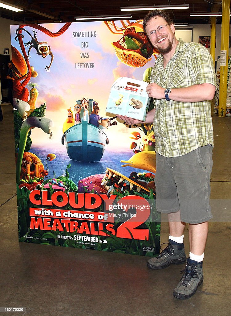 Director of 'Cloudy with a Chance of Meatballs 2' Kris Pearn at the Los Angeles Regional Food Bank with Feeding America for Sony Pictures Animation's 'Cloudy with a Chance of Meatballs 2' on September 9, 2013 in Los Angeles, California.