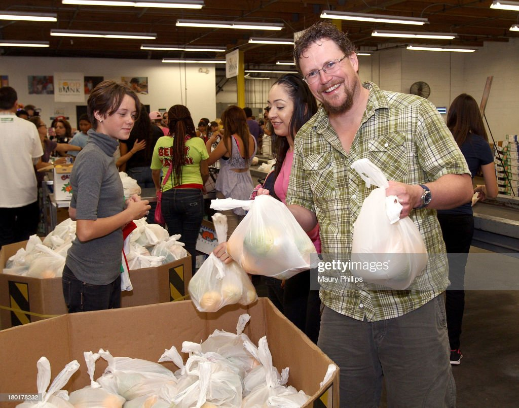 Director of 'Cloudy with a Chance of Meatballs' Kris Pearn at the Los Angeles Regional Food Bank with Feeding America for Sony Pictures Animation's 'Cloudy with a Chance of Meatballs 2' on September 9, 2013 in Los Angeles, California.