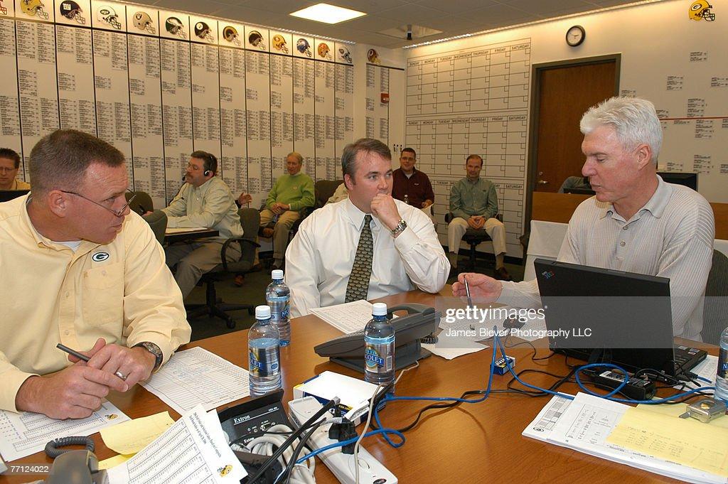 NFL Draft - Green Bay Packers War Room - April 29, 2006 : Nachrichtenfoto