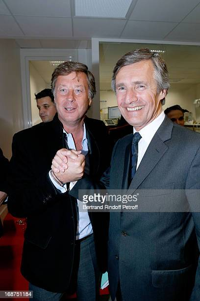 Director of Colony Capital for Europe Sebastien Bazin and President of L'Opinion Nicolas Beytout attend 'L'Opinion' Newspaper Launch Party on May 14...