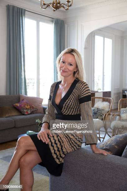 Director of communication at Yves Delorme Caroline Cooren is photographed for Madame Figaro on September 11 2018 in Paris France CREDIT MUST READ...