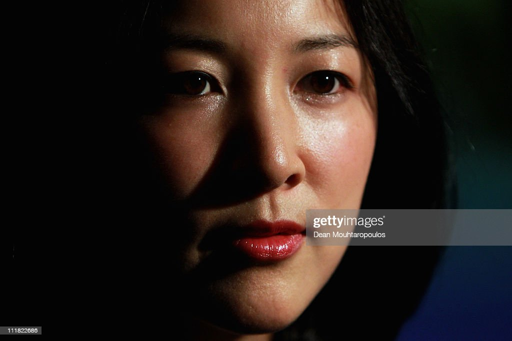 Director of Communications for Pyeongchang 2018, Theresa Rah speaks during the 2018 Olympics Winter Games bid presentation for Pyeongchang at the Park Plaza Westminster Bridge Hotel on April 7, 2011 in London, England.