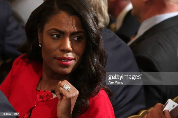 Director of Communications for the White House Public Liaison Office Omarosa Manigault attends a nomination announcement at the East Room of the...