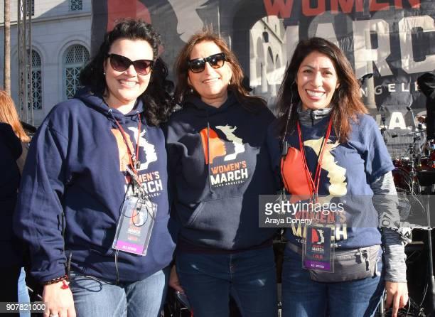 Director of Communications Women's March LA Elen Crafts CoExecutive directors of Women's March LA Deena Katz and Emiliana Guereca at 2018 Women's...