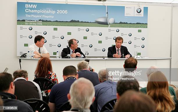 Director of Communicatios for The European Tour Gordon Simpson Managing Director of BMW UK and President of the BMW Championship Jim O'Donnell and...