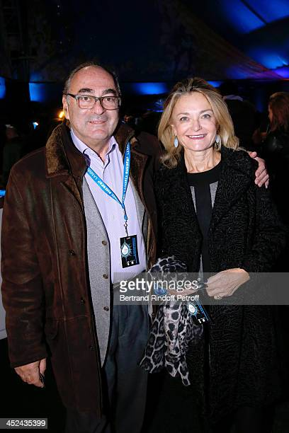 Director of contemporary art at Christie's Florence de Botton and her husband Daniel de Botton attend the 'One Drop' Gala held at Cirque du Soleil on...