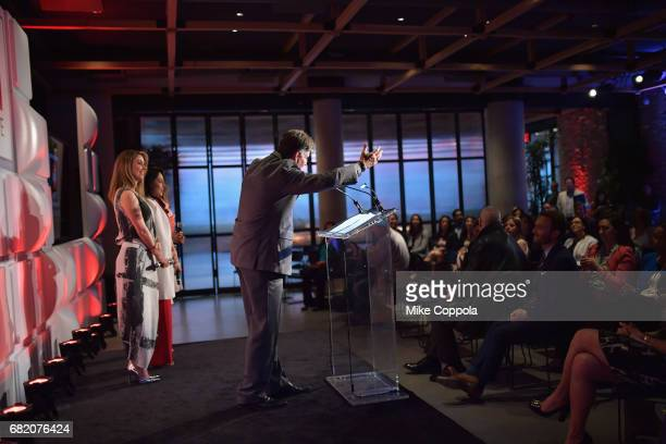 Director of Cross Platform Sales Izzy Gonzalez speaks onstage during the 2017 CNNE Upfront on May 11 2017 in New York City 27008_001