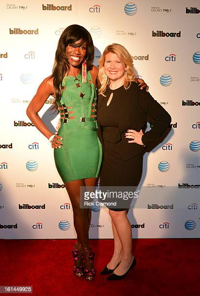 Director of cultural branding music and entertainment at PepsiCo Bozoma Saint John and owner of Mac Presents Marcie Allen attend Citi And ATT Present...
