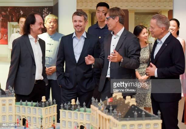 Director of DCC, Eric Messersmidt, The Crown Prince Frederik of Denmark, Chairman of Danish Culture Institute, Carsten Haurum and Ambassador of...