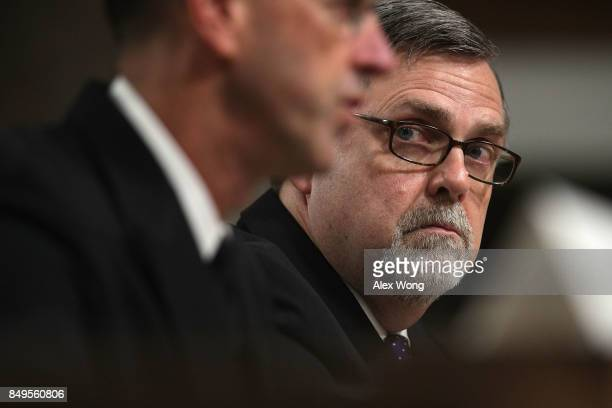 Director of Defense Force Structure and Readiness Issues in the Government Accountability Office John Pendleton testifies during a hearing before...