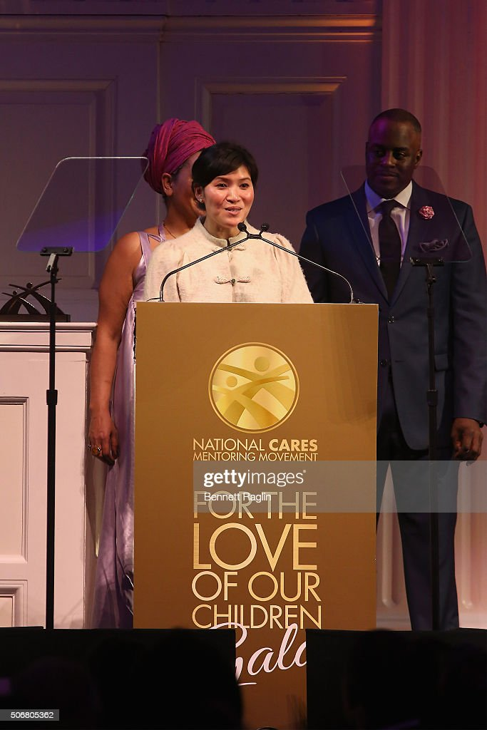 Director of Development at National CARES Mentoring Movement, Jayne Chu speaks onstage during the 'For the Love Of Our Children Gala' hosted by the National CARES Mentoring Movement on January 25, 2016 in New York City.