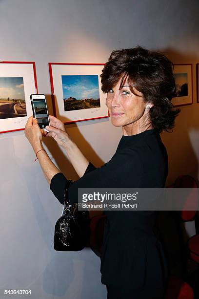 Director of Dior shop Sylvie Rousseau attends the Private View of 'Francoise Sagan Photographer' Photo Exhibition at Galerie Pierre Passebon on June...