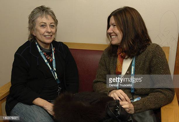Director of Docaviv Festival Ilana Tsur and Diane Weyermann attend the SIO Happy Hour during the 2008 Sundance Film Festival at the Yarrow Hotel Bar...