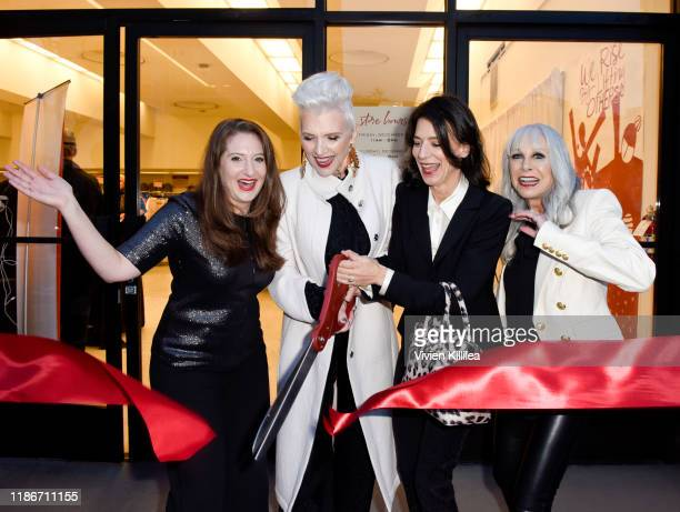 Director of Dress for Success Worldwide West Lesley Brillhart, Maye Musk, Perrey Reeves and Dress for Success Worldwide-West, Event Chair Susan...