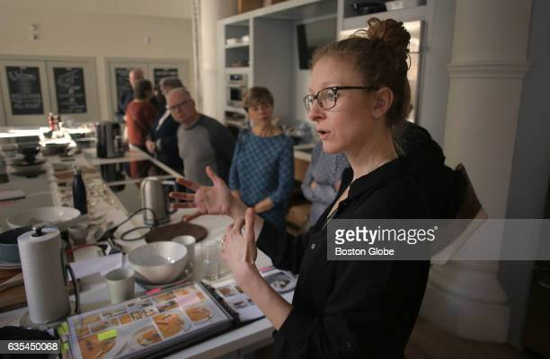 Director of Education Rosemary Gill talks to a public tour group at Christopher Kimball's Milk Street in downtown Boston on Feb 6 2017