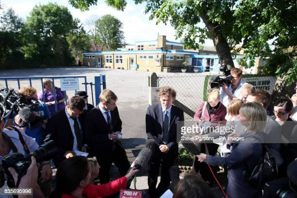 Director of Education Services for the London Borough of Hillingdon Chris Spencer speaks to media outside the St Catherines School in West Drayton...