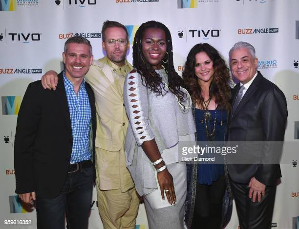 Director of Entertainment Media GLAAD Jeremy Blacklow artist Justin Tranter Shea Diamond Shelly Fairchild and President of Music Business Association...