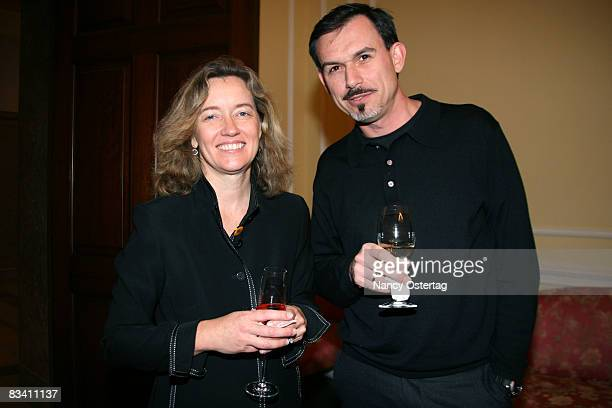 Director of Exhibitions and Special Events Ellen Harrington and National Archives Director of Administration and Marketing Franck Cordes attend A...