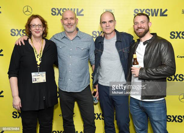 SXSW director of film Janet Pierson director John Hyams actor Michael Kelly and screenwriter Timothy Brady attend the All Square premiere during the...