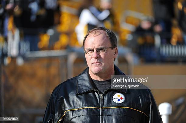 Director of Football Operations Kevin Colbert of the Pittsburgh Steelers looks on from the field before a game against the Oakland Raiders at Heinz...