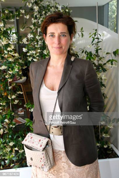 Director of Gaumont Sidonie Dumas Seydoux attends the 2018 French Open Day Nine at Roland Garros on June 4 2018 in Paris France