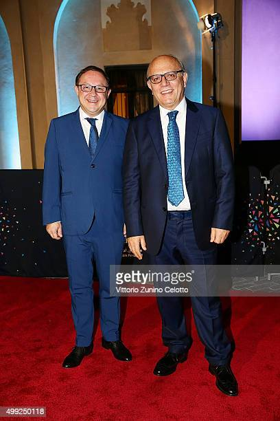 Director of Giffoni Film Festival Pietro Rinaldi and artistic director Claudio Gubitosi on the red carpet at the regional premiere of The Idol co...