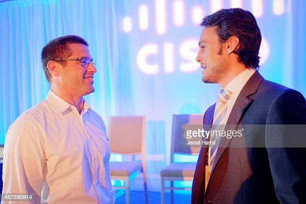 Director of Global Product Management for Belkin Ohad Zeira and the CEO of DGLogik Eugene Mazo attend the 2014 Kairos Global Summit at RitzCarlton...