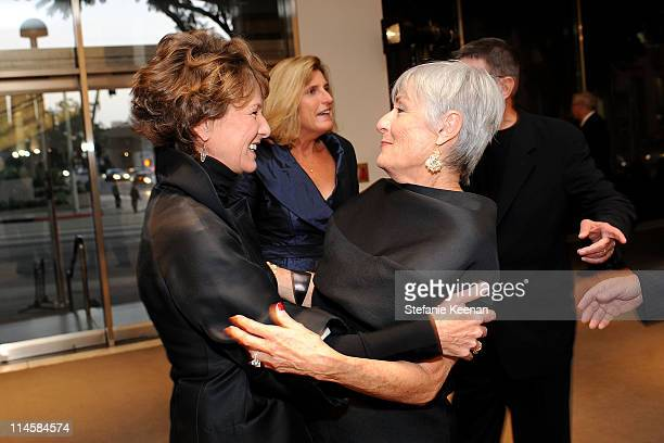 Director of Hammer Museum Ann Philbin and actress Susan Nimoy attend the Hammer Museum's Gala in the Garden sponsered by Gucci held at the Hammer...