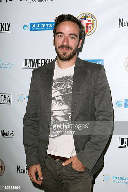 Director of 'Hikikomori' Josema Roig arrives at the 3rd Annual On Location The Los Angeles Video Project 2013 at the ATT Center on October 19 2013 in...