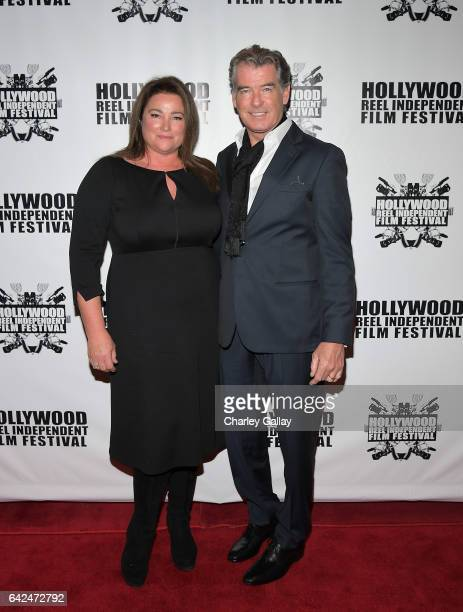 Director of HRIFF's Best Documentary Film Poisoning Paradise Keely Shaye Brosnan and Executive Producer Pierce Brosnan attend the Hollywood Reel...
