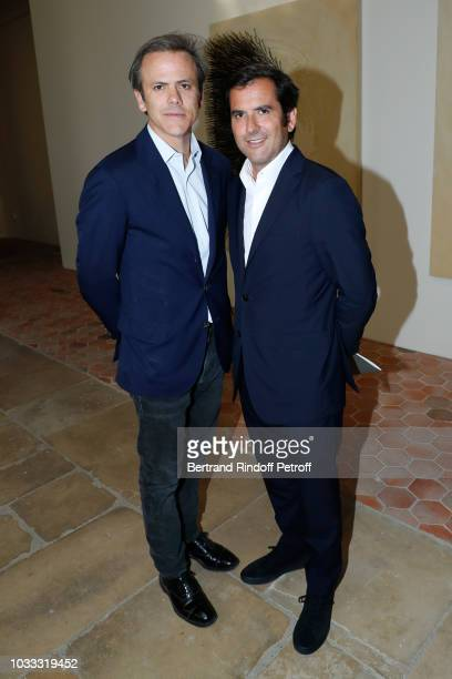Director of Image Communication of Galeries Lafayette Guillaume Houze and his brother General Director of Galeries Lafayette Nicolas Houze attend the...