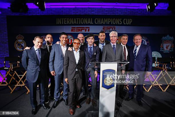Director of Institutional Relations for Real Madrid Emilio Butragueno Former French football player Youri Djorkaeff former soccer player Giovane...