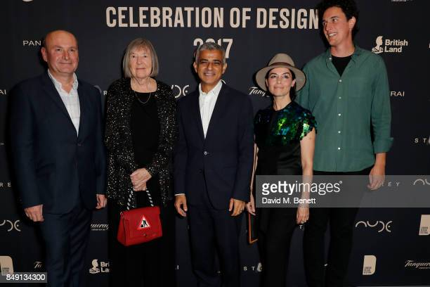 Director of London Design Festival Ben Evans Paul Priestman winner of The Design Innovation Medal supported by Tanqueray The Lifetime Achievement...