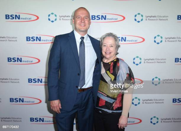 Director of Lymphology at BSN Medical Eric Johnson and actress Kathy Bates attend Academy Award Winner and LERN Spokesperson Kathy Bates Hosts...