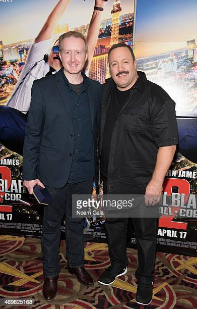 Director of Marketing and Communications at National Fatherhood Initiative Ryan Sanders and actor Kevin James attends The Moms 'Paul Blart: Mall Cop...
