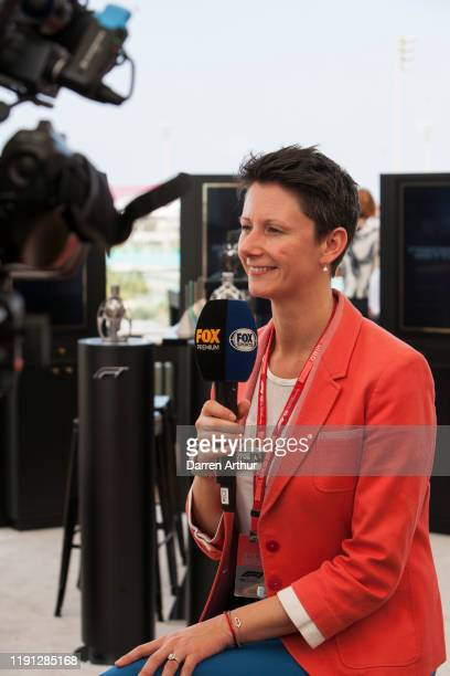 F1 director of marketing and communications Ellie Norman at the launch of the F1 fragrance at the Formula 1 Etihad Airways Grand Prix Yas Marina...