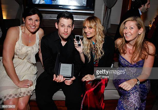 Director of marketing for Sony Felicia Alexander musician Joel Madden Nicole Richie and director of sales for Sony Amy Berman attend the fundraiser...