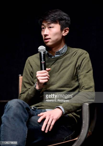 Director of 'Minding The Gap' Bing Liu speaks on stage during the Talent Forum Keynote The Year That Was during 2019 Sundance Film Festival at The...