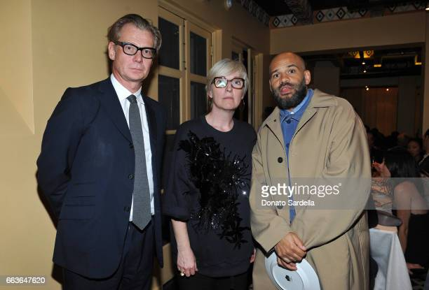 Director of MOCA Philippe Vergne MOCA Chief Curator Helen Molesworth and Chris Gibbs attend MOCA's Leadership Circle and Members' Opening of 'Carl...