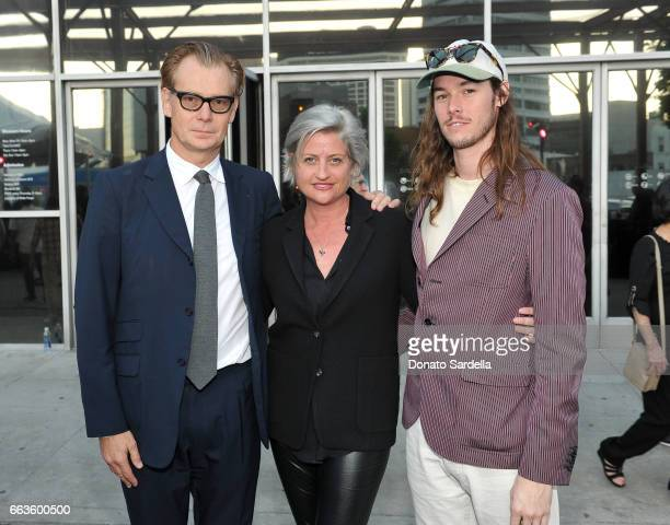 Director of MOCA Philippe Vergne Sarah Watson and Tyler Britt attend MOCA's Leadership Circle and Members' Opening of 'Carl Andre Sculpture as Place...